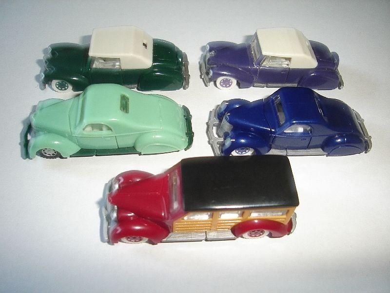 KINDER SURPRISE MINIATURES VINTAGE MODEL CARS COLLECTION 1920/'s SET 1:87 H0