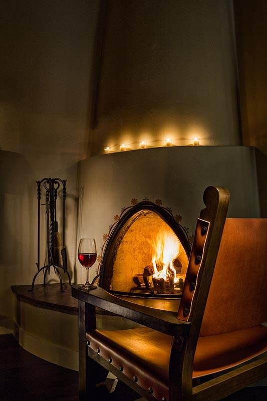 Beautiful fireplace pinteres for Kiva style fireplace