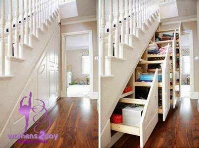 Storage Shelves Fit Out Under Stair Area / amazing idea 2014