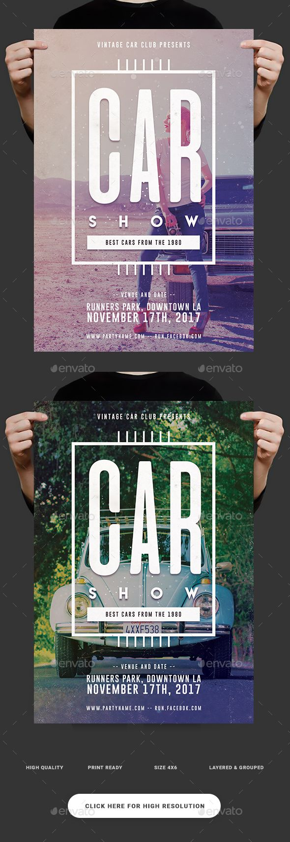 Classic Car Show Flyer | Psd templates, Template and Cars