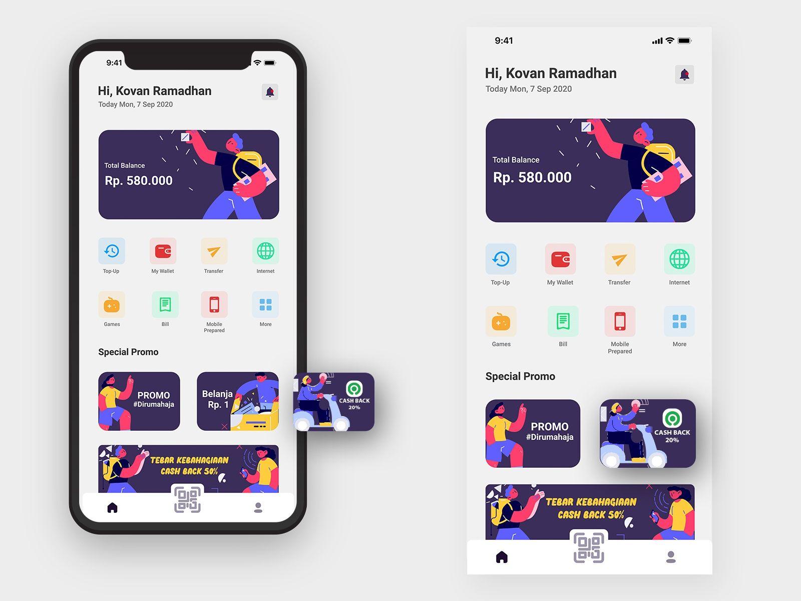 EWallet App in 2020 App, App design, Digital wallet