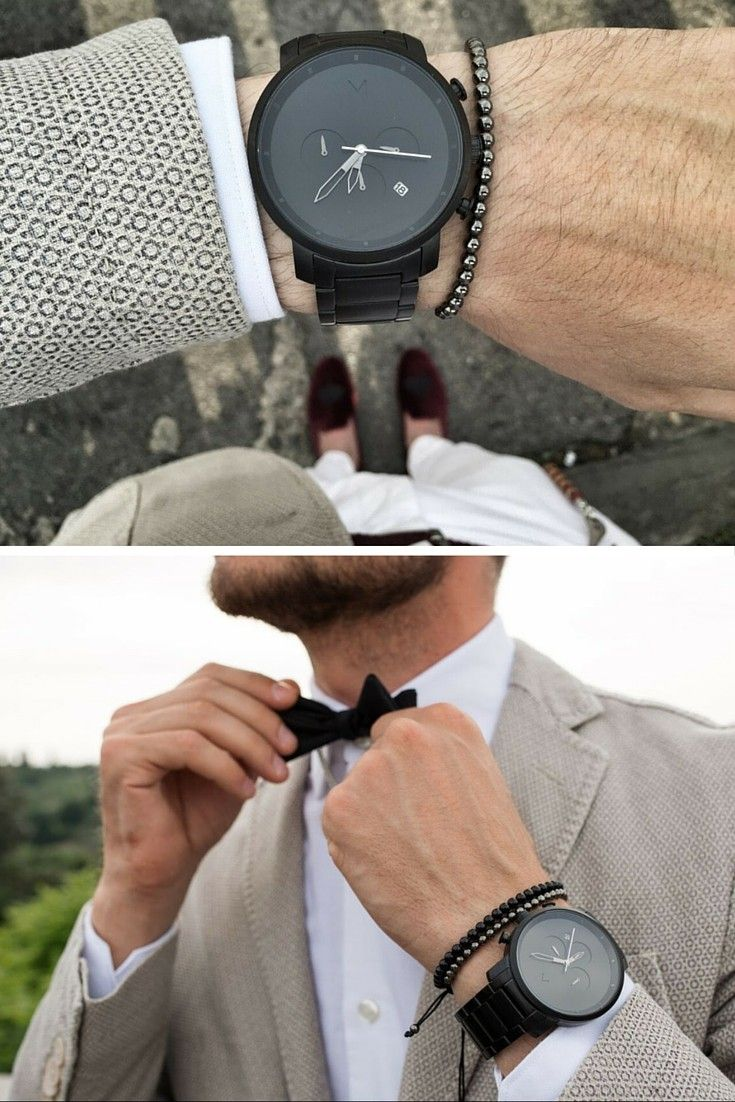 60396e0b8557 Black Link Watch | Men's - 45mm | Chrono Series | Marvellous.Male ...