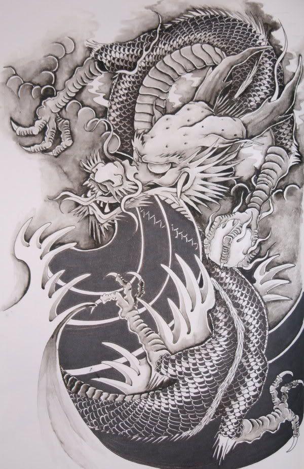 Drachen Tattoo Vorlagen Und Motive Fur Tatowierung 13