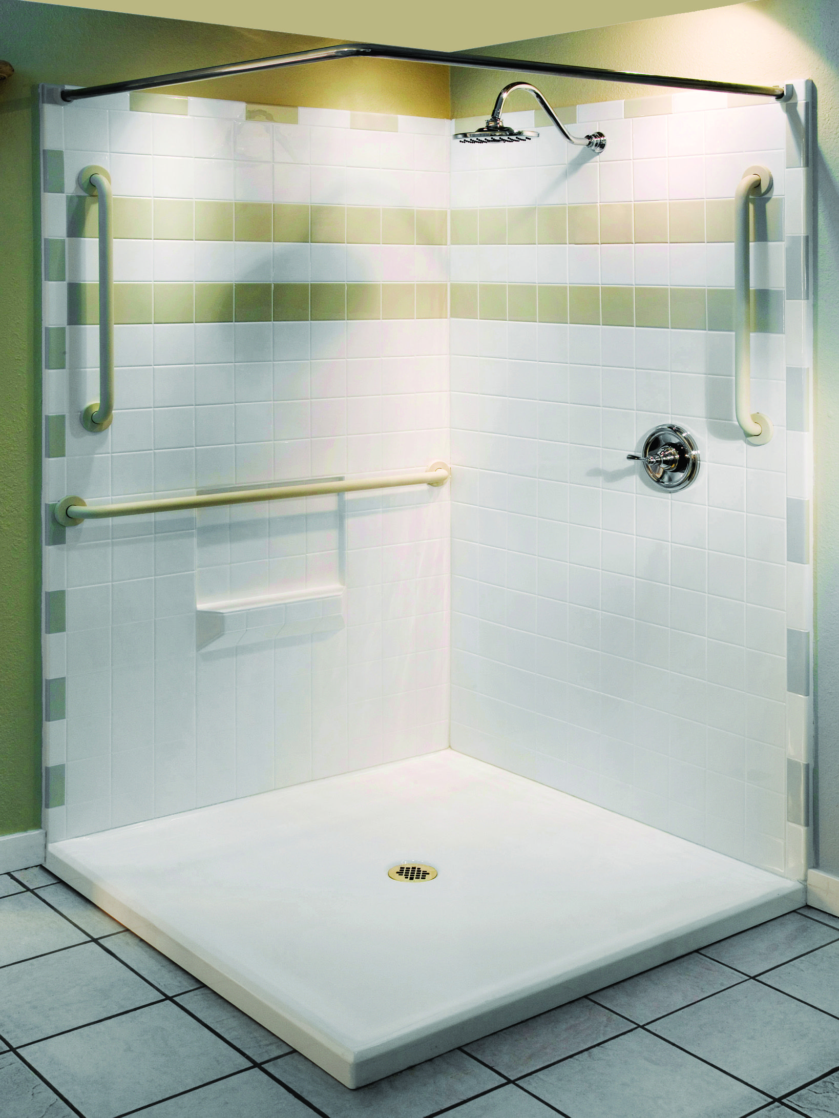 Barrier Free Shower for easy access. Aquassure Accessible