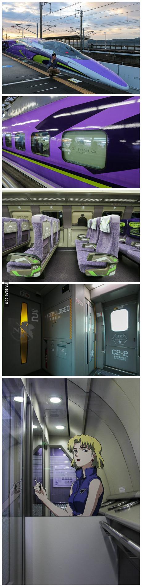 Evangelion Themed Shinkansen in Japan (Sanyo Shinkansen Line)