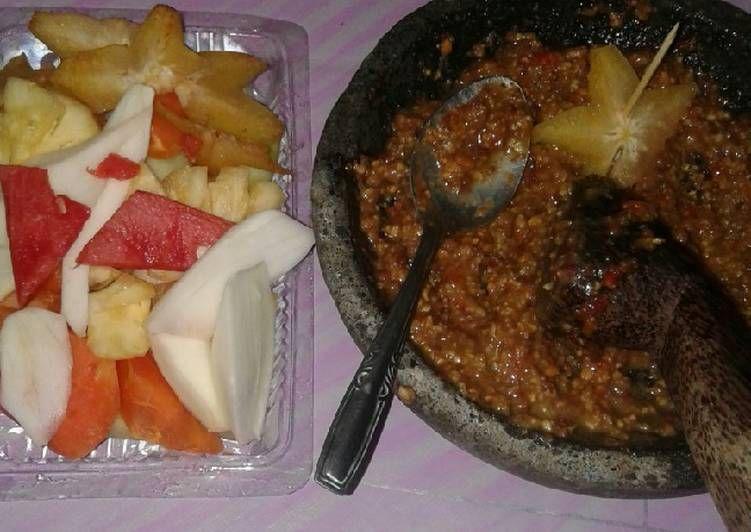 Resep Sambal Rujak Buah Oleh Sina Ayuningtyas Resep Buah Resep Makanan