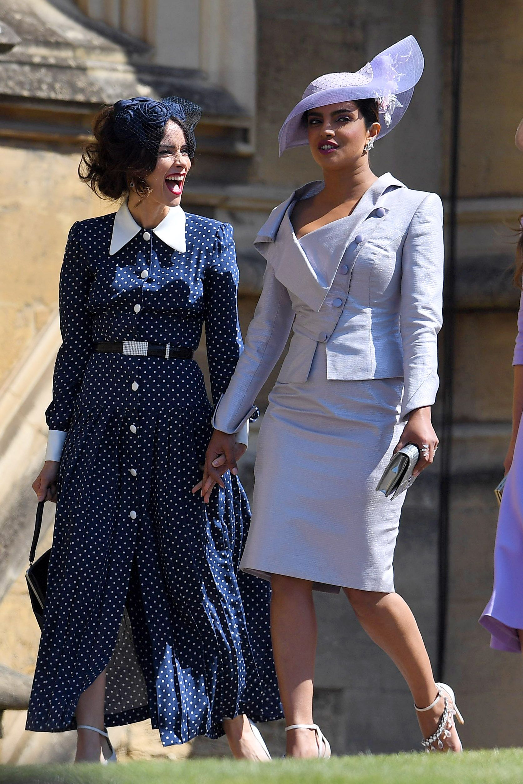 31c100a5d0460 Abigail Spencer and Priyanka Chopra arrive at Harry and Meghan s wedding.  (May 19