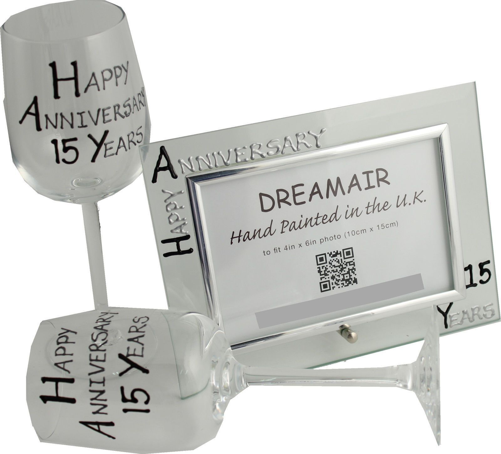 Crystal Gifts For 15th Wedding Anniversary: 15Th Year (Crystal) Wedding Anniversary Wine Glasses And