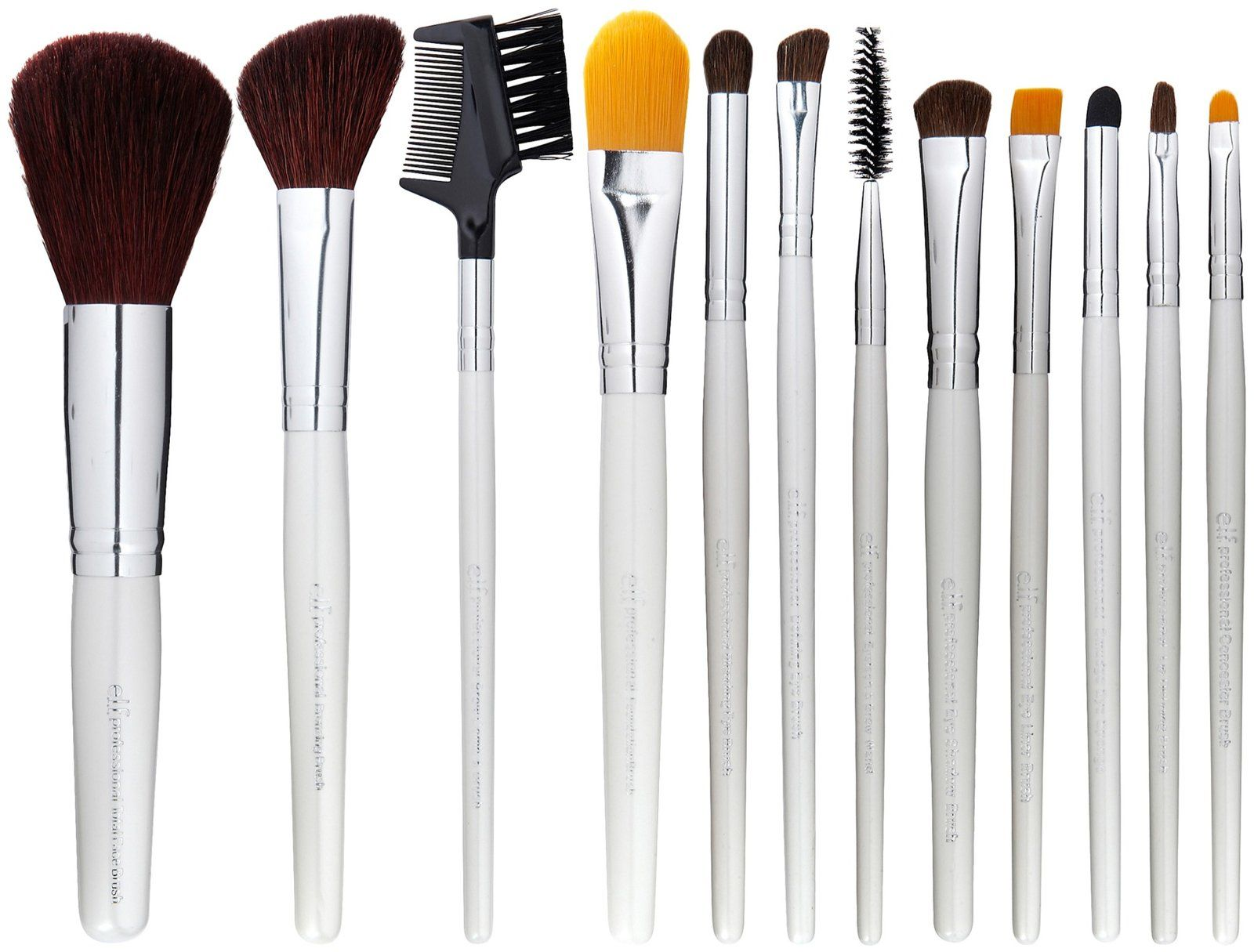 Elf 12pc Essential Brush Set Makeup Brush Set Elf Makeup Brushes Cheap Makeup Brushes Set