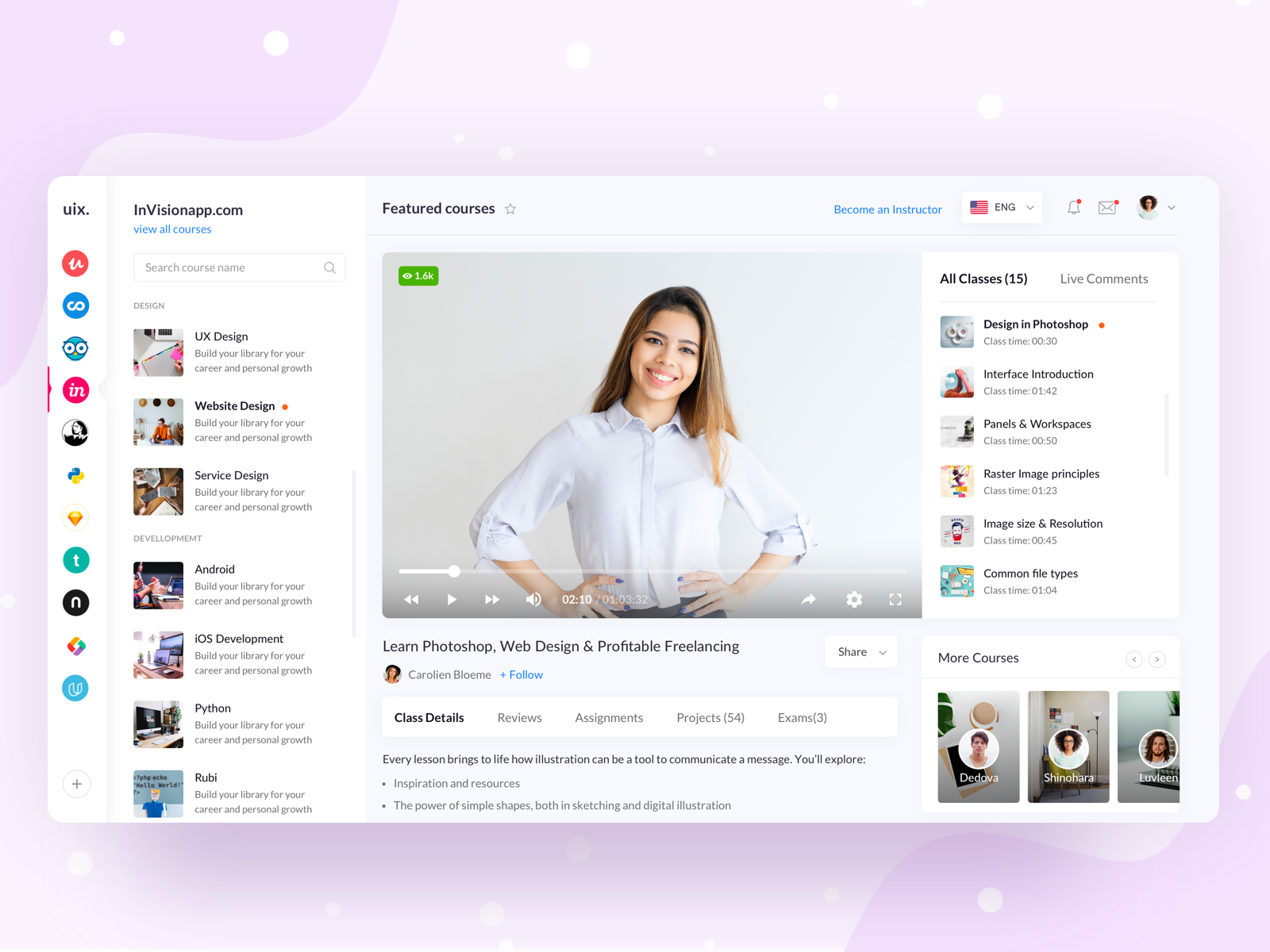 Online Learning Platform Screen 02 Online Learning Elearning Design Learning Graphic Design