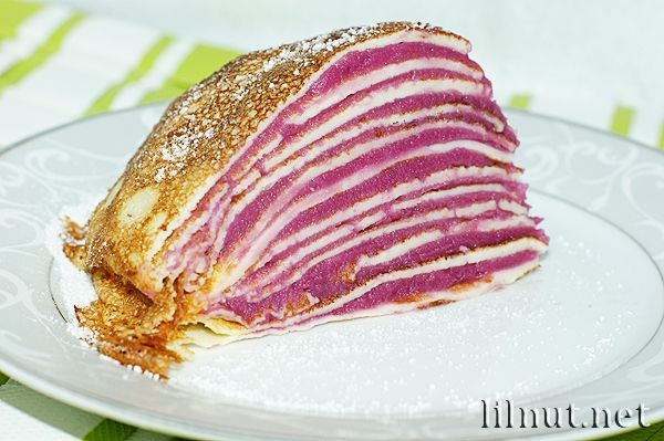 Ube Mille Crepe (Purple Sweet Potato Mille Crepe)