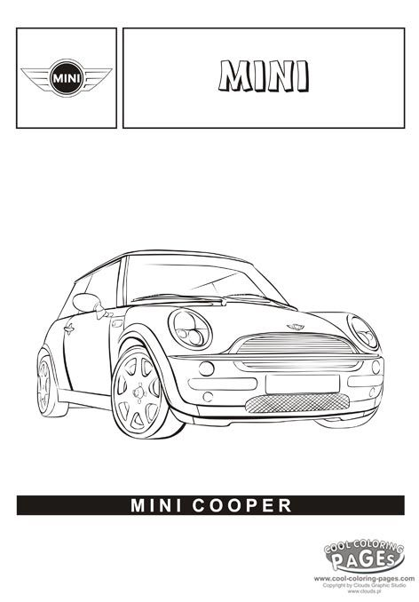 Mini Cooper Coloring Page Mini Cooper Coloring Pages Cars