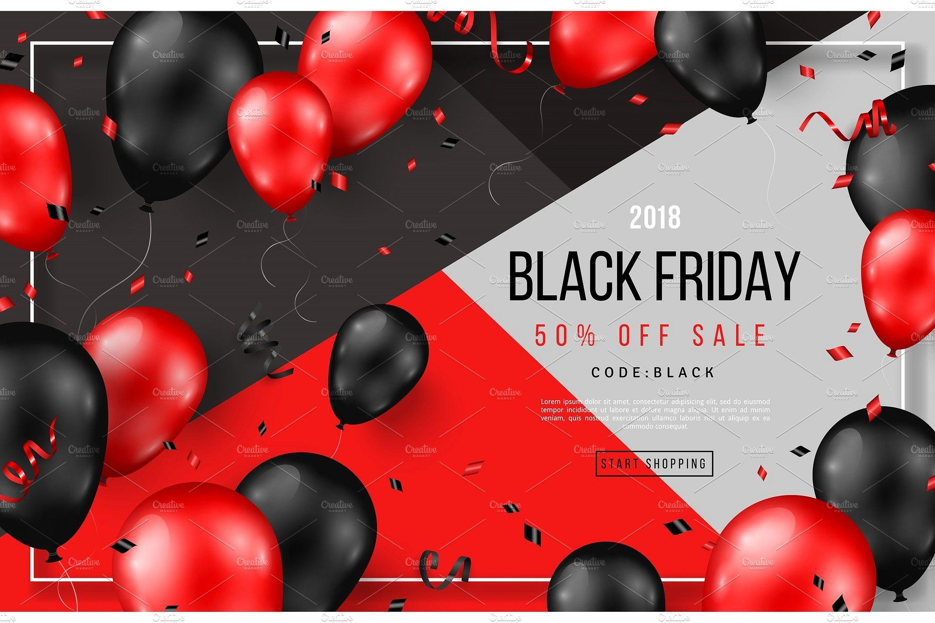 Black Friday Sale With Balloons Black Friday Sale Poster Black Friday Black Friday Sale