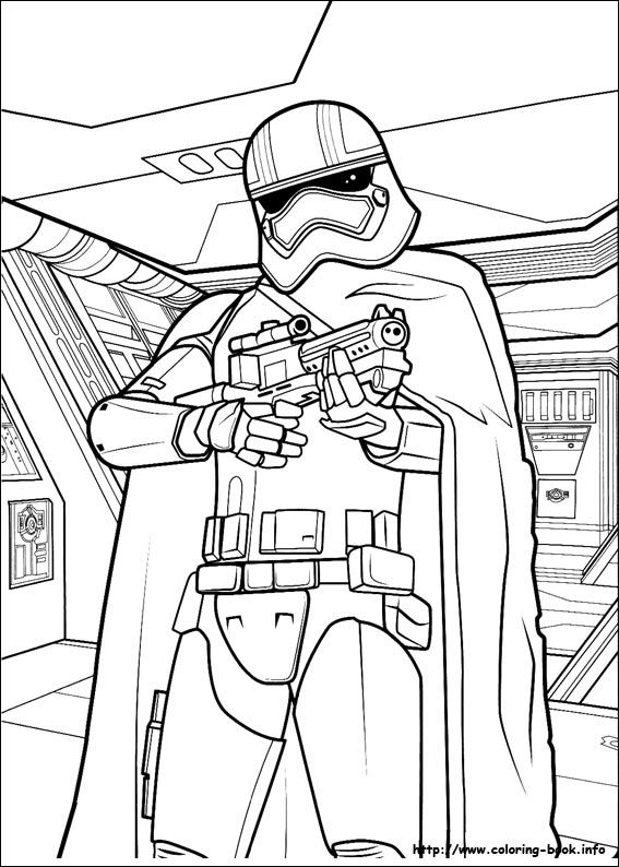 Star Wars : The Force awakens coloring picture | LineArt: Star Wars ...