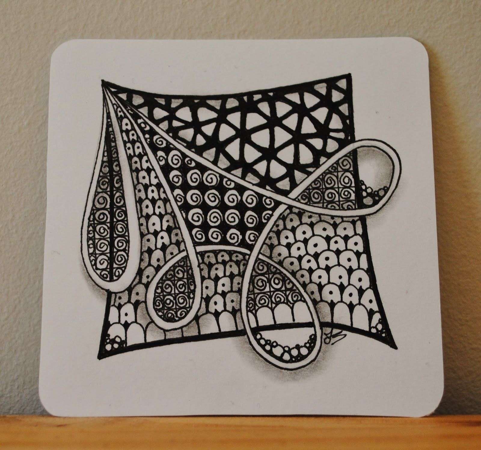 Zentangle Basics Download | She filled in the negative space behind ...