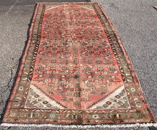 3 7 X 8 4 Old Washed Out Antique Persian Mahal Malayer Oriental Area