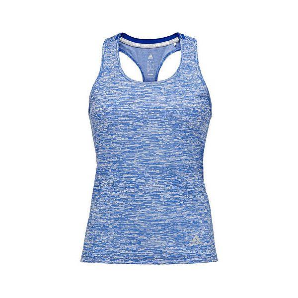 Adidas Geo heather Supernova tank ($30) ❤ liked on Polyvore featuring activewear, activewear tops, adidas sportswear, adidas ve adidas activewear