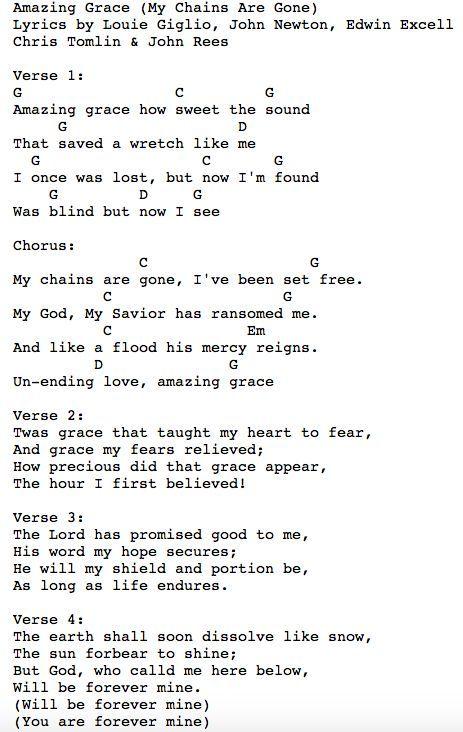 Contemporary Christian Music Worship Lyrics Chords For Amazing