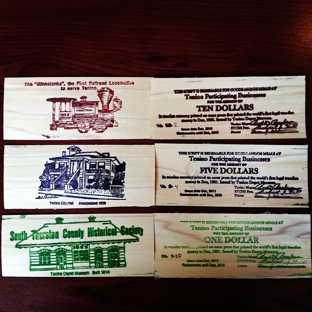 Tenino Wash Was Famous For Their Wooden Money During The