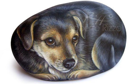 Pet Rock Portraits on Commission by RobertoRizzoArt on Etsy, $120.00