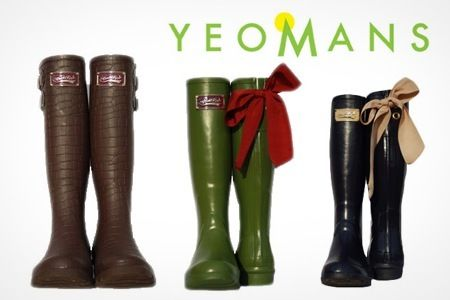 £24.99 Save 58% on Pair Of Rockfish Wellington Boots @ Yeomans  Pair of Rockfish Wellington Boots  Mock Croc or Ribbon styles  Choice of colours from aubergine, chocolate, navy, black, green and brown  Four colours for Ribbon  Two colours for Mock Croc  Available in womens sizes 4-8  Modern design with Victorian inspiration  Knee-high length  One pair of Rockfish wellington boots  Packaged in vintage style box