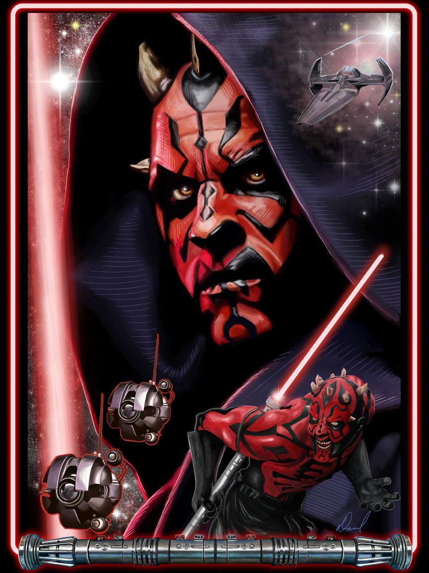 Star Wars Darth Maul Poster or Canvas