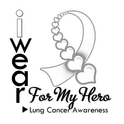 Lung Cancer Ribbon Clip Art Wear Lung Cancer Ribbon For Mom