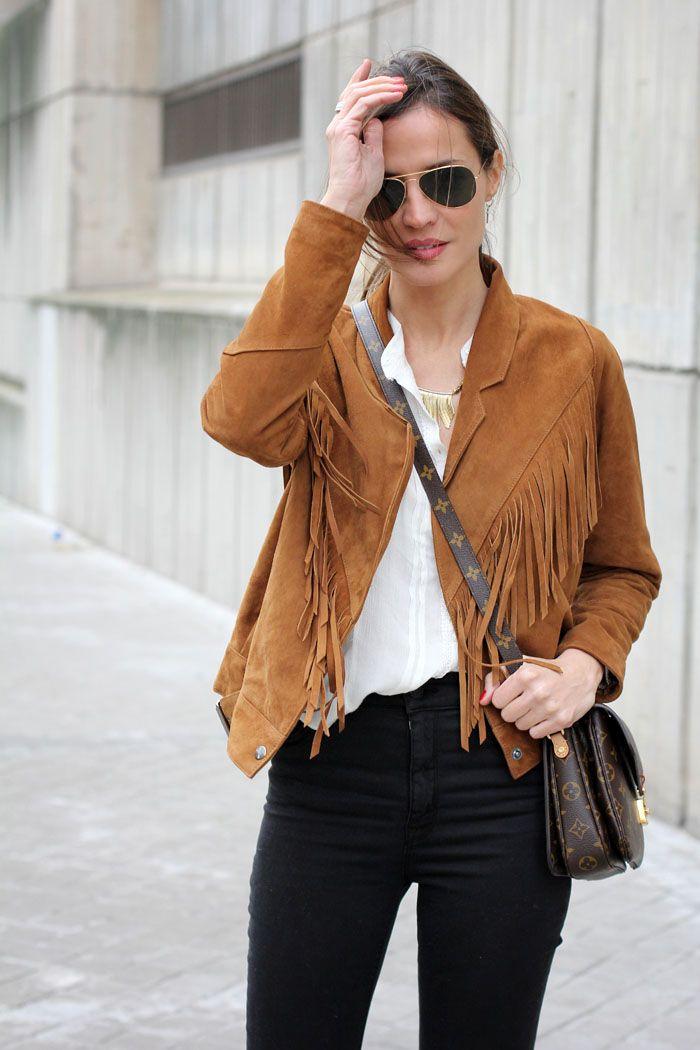 57b5106b3 suede fringe jacket and LV | My Style | Fringe jacket, Jackets ...
