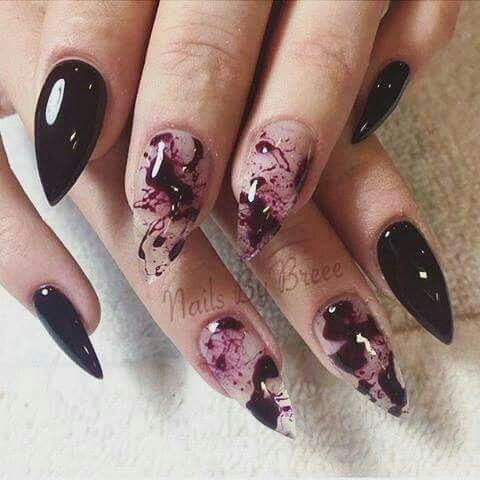 Halloween Nails | Halloween acrylic nails, Halloween nails ...