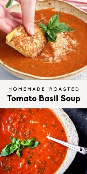 Homemade Roasted Tomato Basil Soup   Ambitious Kit