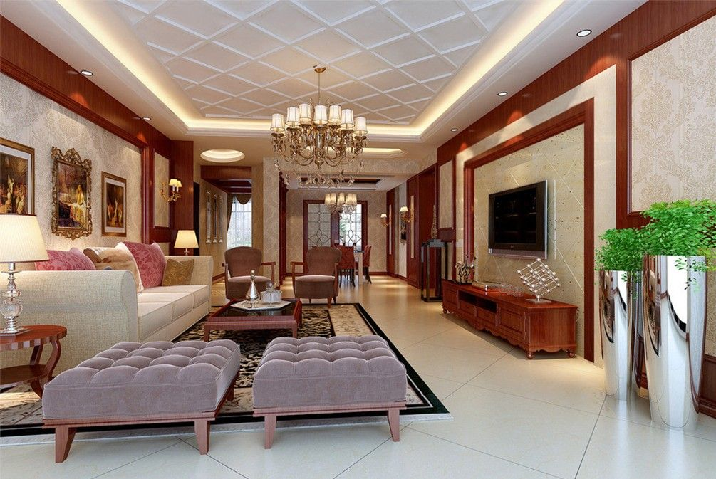 Luxury Tv Wall Living Room European Style 3d House Free 3d House Pictures And Wallpaper Ceiling Design Living Room Ceiling Design Modern Pop Ceiling Design Drawing room ceiling design photos