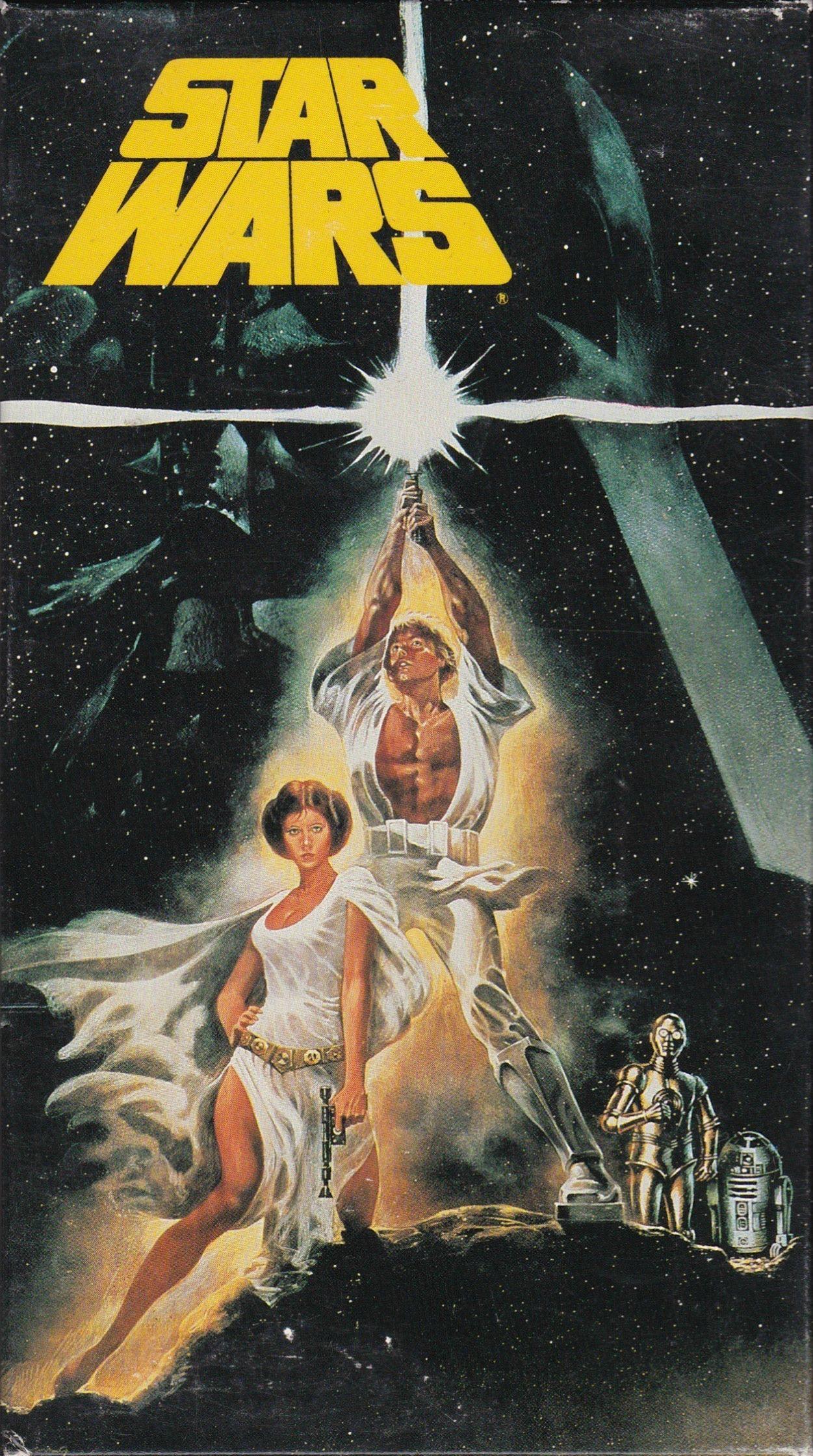 Hi Res Scan Of My Epidsode Iv Vhs Star Wars Movies Posters Star Wars Art Vintage Star Wars
