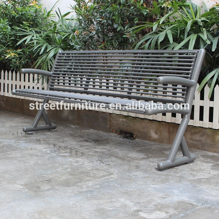 6 Feet Long Outdoor Metal Garden Bench Seat With Backrest View