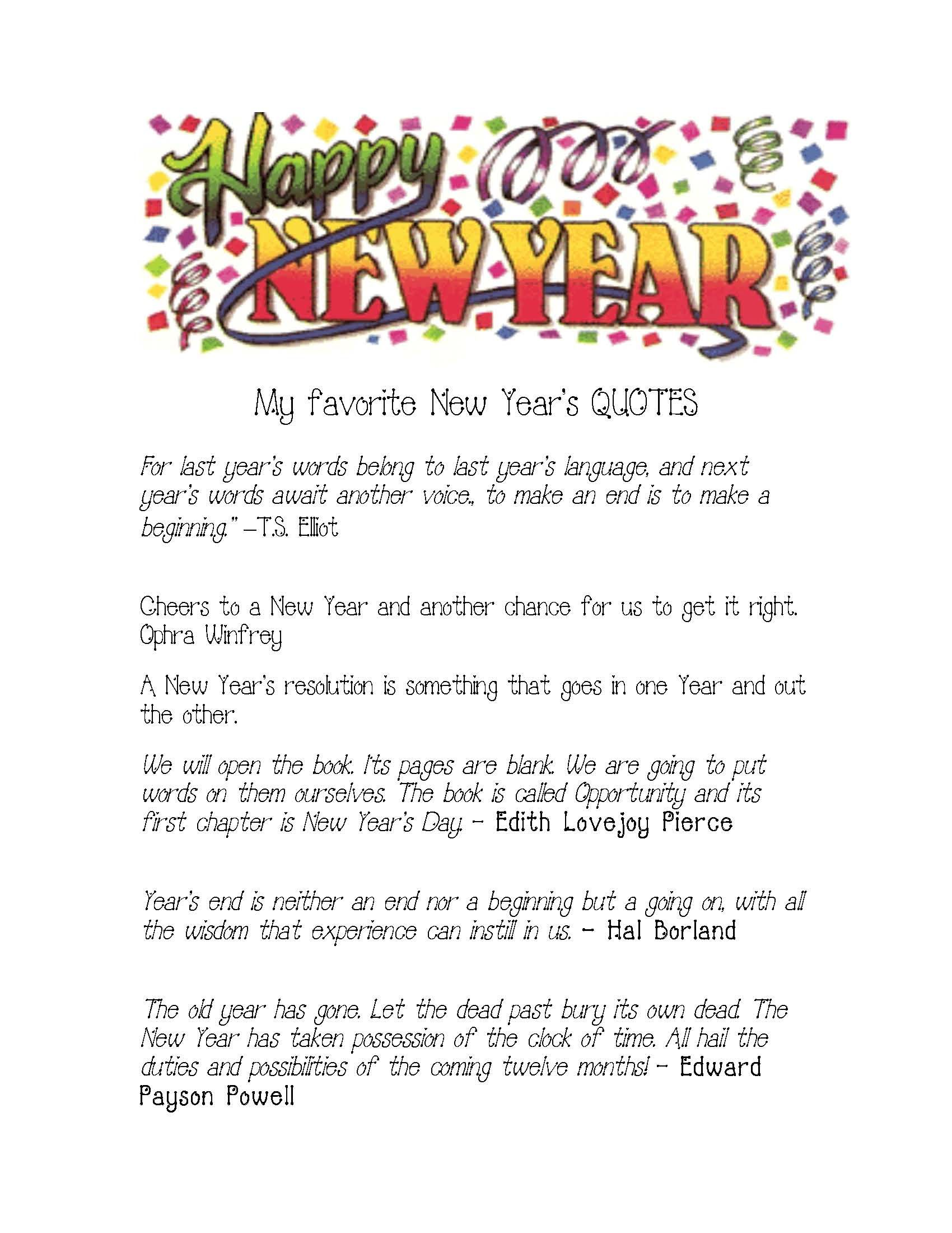 Happy New Year Quotes | Quotes, Sayings & Words | Pinterest | Thoughts