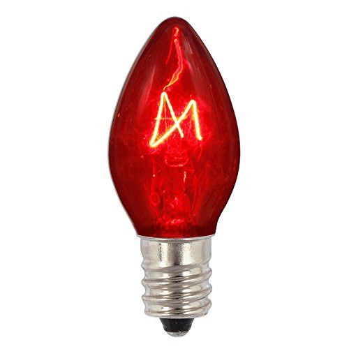 C7 Red Transparent Replacement Bulb
