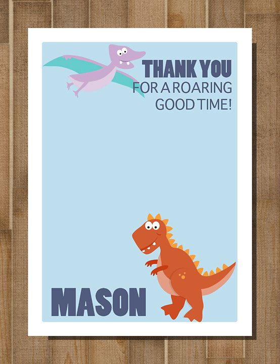 Printable Dinosaur Thank You Card Dino Mite Dino Thank You Custom Birthday Planning 3rd Birthday Parties Party Theme