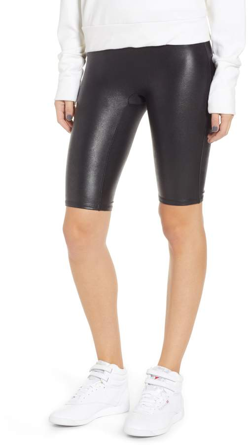 272ac9907d16b Plus Size Women's Spanx Faux Leather Bike Shorts, Size 1X - Black in ...