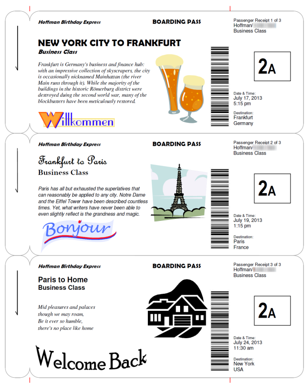 Boarding Pass Templates For Invitations Gifts Pinterest