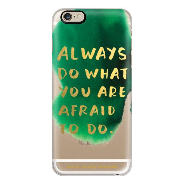 Always Do What You Are Afraid To Do - iPhone 7 Case, iPhone 7 Plus... (2,665 INR) ❤ liked on Polyvore featuring accessories, tech accessories, phone cases, iphone case, slim iphone case, apple iphone case, iphone cover case and iphone cases