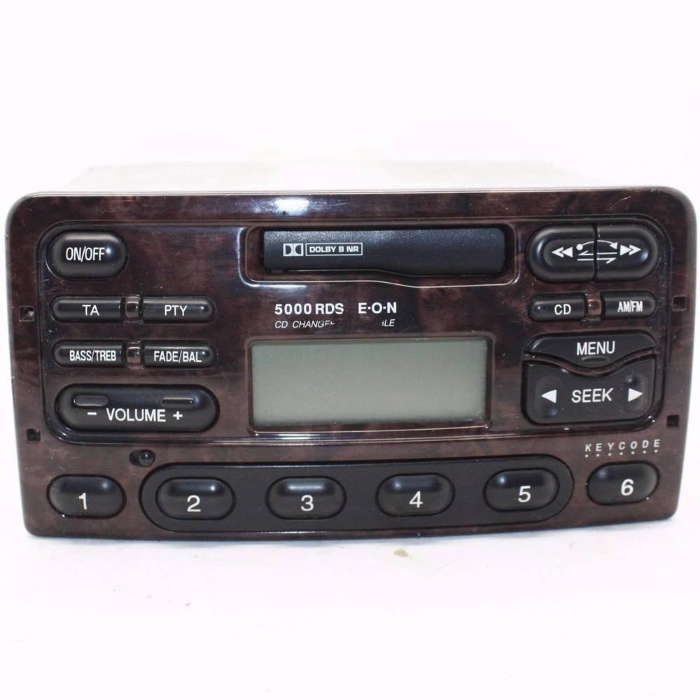 Ford 5000 Rds Car Stereo Head Unit Cassette Player Radio Wood Effect With Code Ford Car Stereo Cassette Player Head Unit