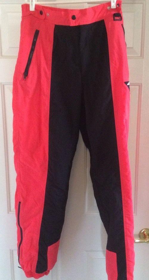 168490be4f FILA Men's Size L Insulated Ski Snowboard Pants Thinsulate Orange Coral  Black #Fila