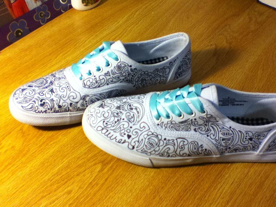 Decorated shoes, Sharpie shoes, Diy shoes