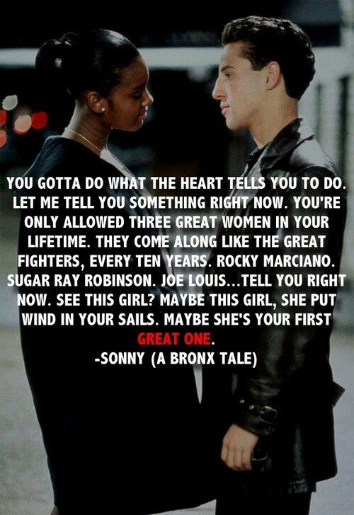 Best Movie Line on | My Thoughts.Their Words. | A bronx tale ...