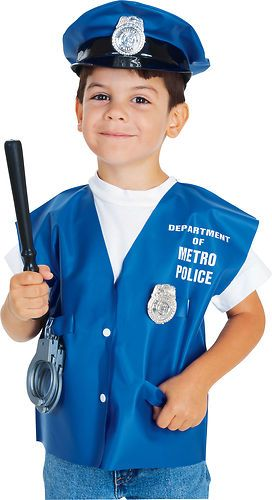 Kids Boys Police Officer Costume Kit Girl Childs Halloween Child Hat Vest Club  sc 1 st  Pinterest & Kids Boys Police Officer Costume | Police Officer | Pinterest ...