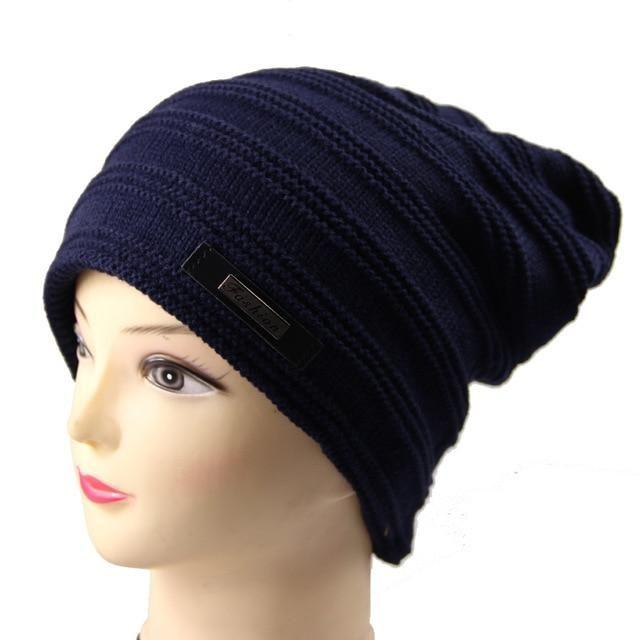 937b92594ec 2018 Brand Beanies Knit Winter Hats For Men Women Beanie Men s Winter Hat  Caps Bonnet Outdoor Ski Sports Warm Baggy Cap M-128