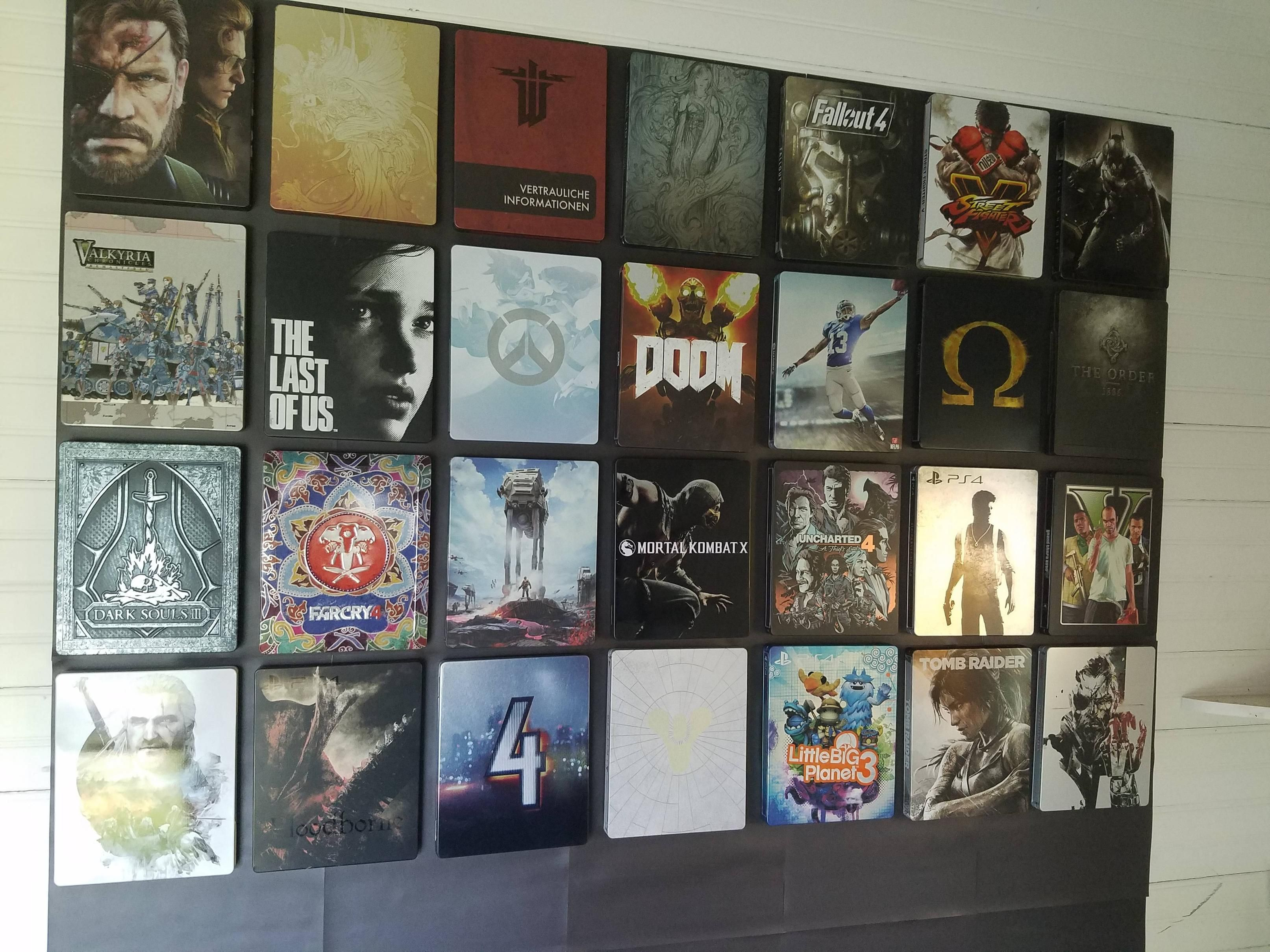 I Made A Magnet Wall To Display My Ps4 Steelbook Game