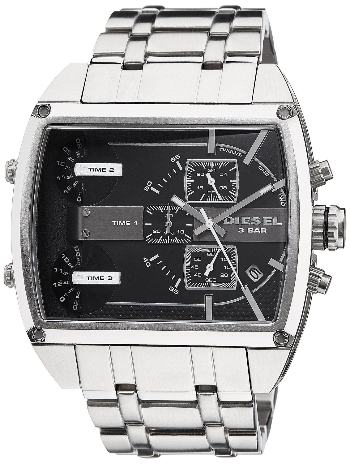 ecb1335eb34 Buy Diesel Tank Series Chronograph Black Dial Men s Watch - DZ7324 Online  at Low Prices in India - Amazon.in