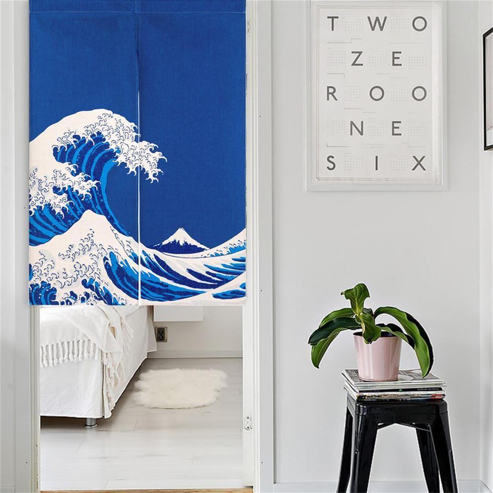 Japanese Ukiyoe Noren Doorway Curtains Home Decor Accessories