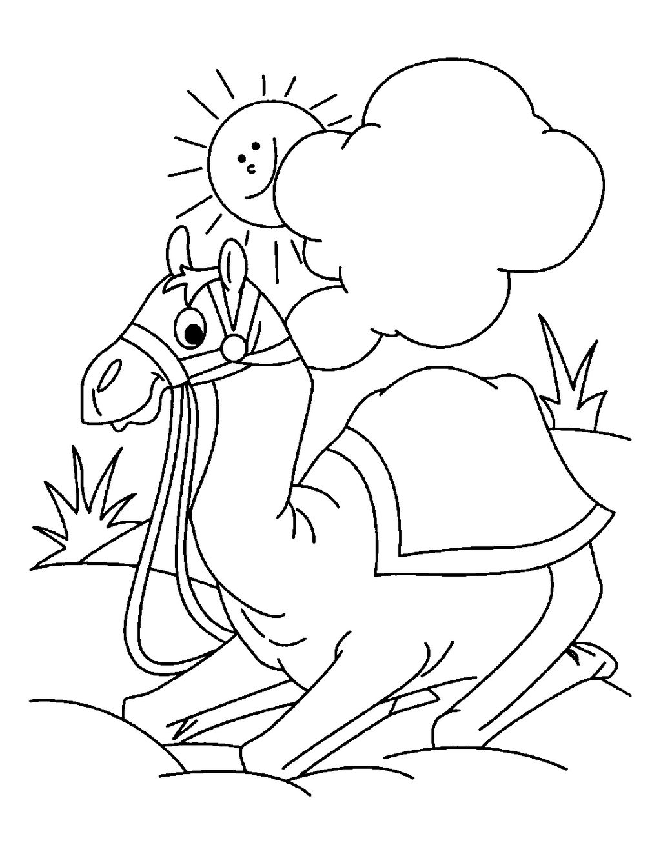 Cutecamel Camelcartoon Animal Coloring Pages Desert Animals Coloring Coloring Pages [ 1324 x 1024 Pixel ]
