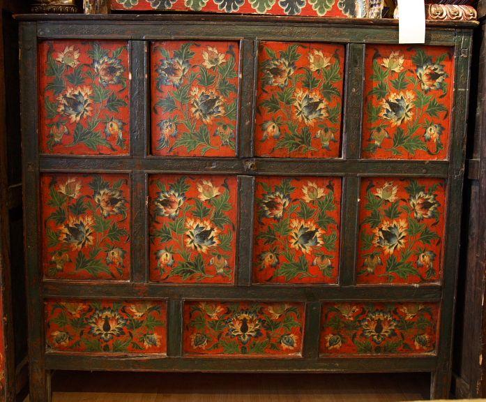 Tibetan Lotus Cabinet